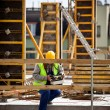 Construction worker working on a construction si — Stock Photo #2715962