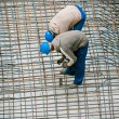 Construction worker working on a construction si — Stockfoto
