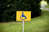 Disability sign on grass background — Stock Photo