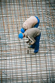 Construction worker working on a construction si — Foto Stock