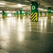 Stock Photo: Parking garage, underground interior without car