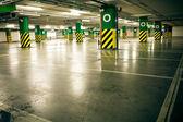 Parking garage, underground interior without car — Stock Photo