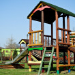 Colorful wooden playground for children — Stock Photo #2954813
