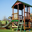 Stock Photo: Colorful wooden playground for children