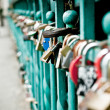 Royalty-Free Stock Photo: Padlock hanging on one of the bridges in Wroclaw