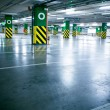 Parking garage, underground interior without car — Foto de Stock