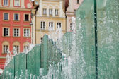 Fountain in the Square in Wroclaw, Poland — Foto Stock