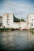 View of an old mill in Wroclaw from Slodowa Isla — Stock Photo