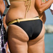 Stock Photo: Adult women tushie with cellulite