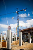 Construction site of football stadium in Wroclaw — Stock Photo