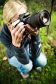Naturfotograf på jobbet — Stockfoto