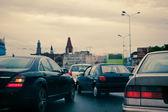 Atasco de tráfico - pánico en las calles — Foto de Stock
