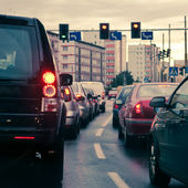 Traffic jams in the city — Stock Photo