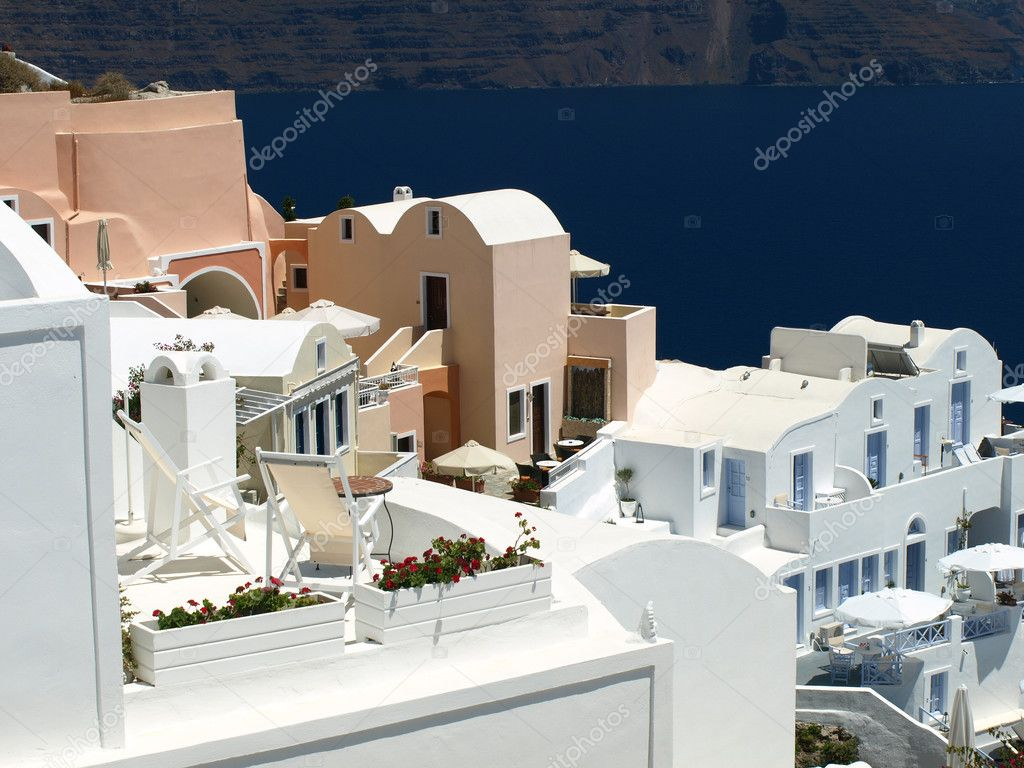 Beautiful architecture of Oia (Santorini island, Greece)    — Stock Photo #2763326