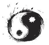 Artistic yin-yang symbol — Stock Vector