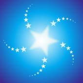 Starburst background — Stock Vector