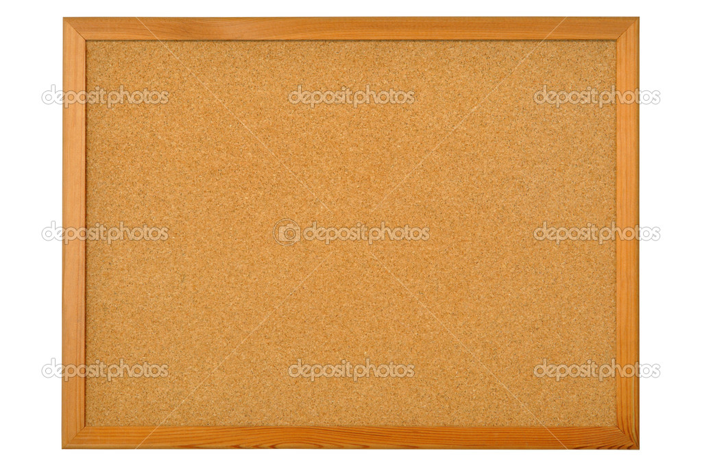 Cork bulletin board isolated on white background  Stock Photo #3472292