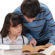Boy And Girl Reading — Stock Photo