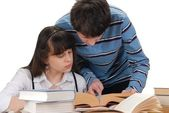 Boy And Girl Reading — Foto Stock