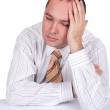 Tired businessman with closed eyes — Stock Photo #3135541