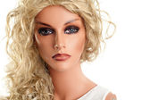 Mannequin with long blond hair — Foto Stock