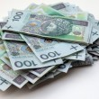 Stack of polish money - Stock Photo