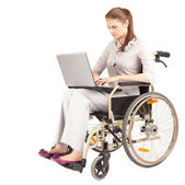 Businesswoman on wheelchair — Stock Photo