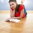 Young woman reading book — Stock Photo #3335774