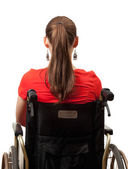 Invalid woman on the wheelchair — Stock Photo