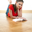Young woman reading book — Stock Photo #3352483
