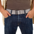 Stock Photo: Mwith hand in pocket