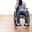 Woman on the wheelchair — Stock Photo