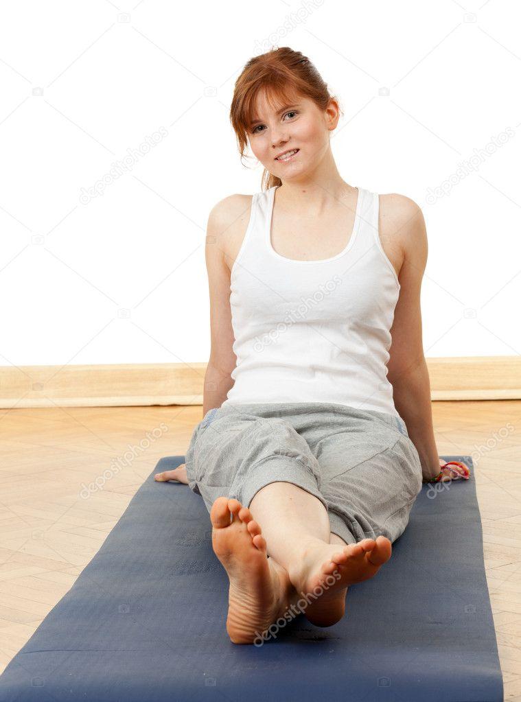 Sitting On Floor Resting Woman Stock Photo 169 Photomak
