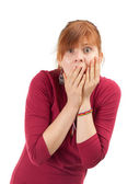 Frightened woman — Stock Photo