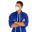 Man in protective mask — Stock Photo
