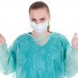Female doctor in medical mask — Stock Photo #3676336