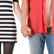 Two persons holding on hands — Stock Photo