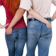 Two person hugging each other — Stock Photo #3676847