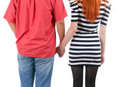Couple hands in hand — Stock Photo