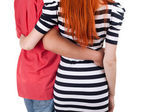 Two person hugging each other — Stock Photo