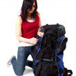 Young female tourist with backpack — Stock Photo #3719397