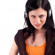 Young girl in headphones — Stockfoto