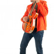 Royalty-Free Stock Photo: Young man with electric guitar