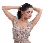 Young posing woman — Stock Photo