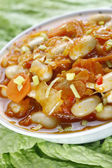 Cabbage with beans — Stock Photo