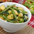 Chicken with zucchini and green beans — Stock Photo