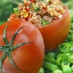Stuffed tomato — Stock Photo