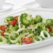 Salad with pasta and vegetables — Stock Photo