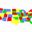 Map USA — Stock Photo #2759619