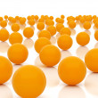 Orange spheres -  